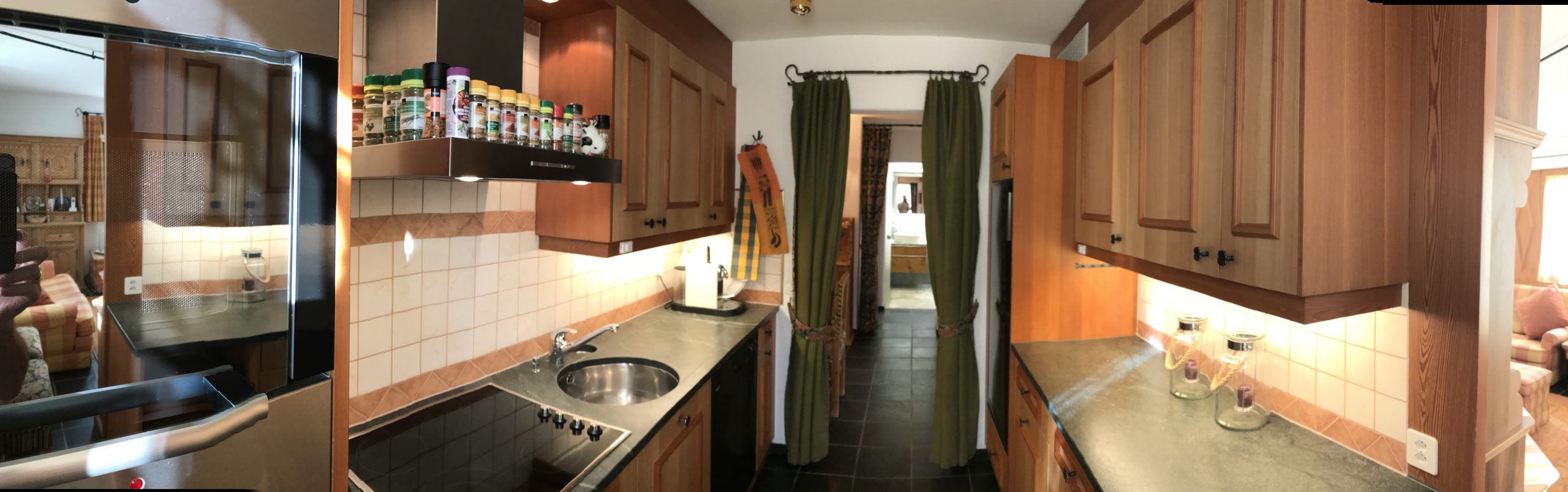 kitchen of the chesota holiday apartment